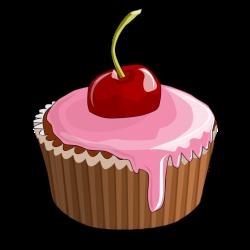Vanilla Cupcake clipart cherry
