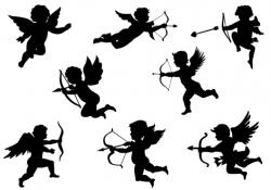 Cupid clipart silhouette