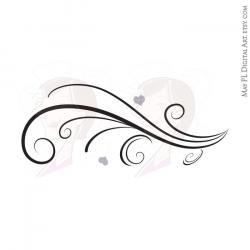 Swirl clipart horizontal black
