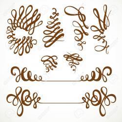Curl clipart floral design