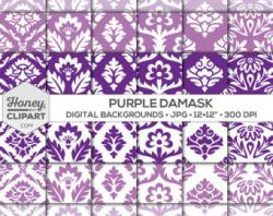 Damask clipart curl
