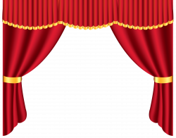 Theatre clipart red curtain