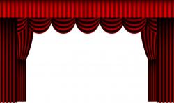 Curtain clipart open stage