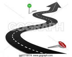 Freeway clipart journey path