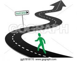 Highway clipart journey road