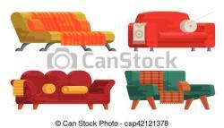 Cushion clipart sofa set