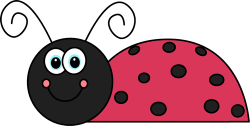 Lady Beetle clipart cute smile