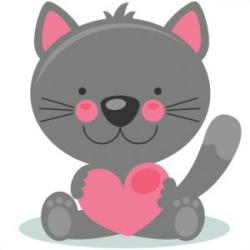 KITTENS clipart valentine's day