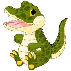 Crocodile clipart baby alligator