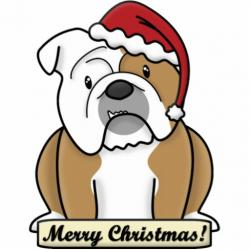 English Bulldog clipart cartoon