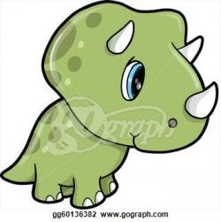 Triceratops clipart cute dinosaur