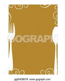 Cutlery clipart blank menu