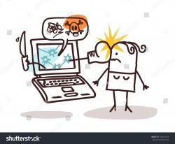 Laptop clipart cyber