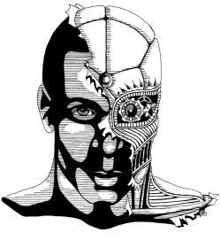 Cyborg clipart face