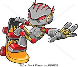 Cyborg clipart vector
