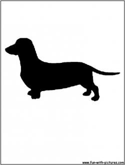 Dachshund clipart animal outline