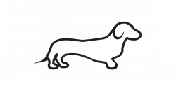 Dachshund clipart black and white