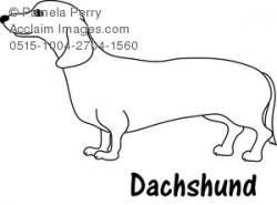 Dachshund clipart dog outline