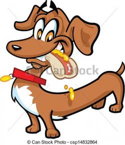 Dachshund clipart hot dog