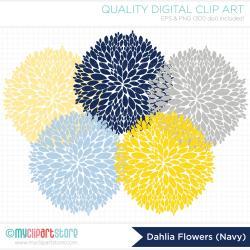 Dahlia clipart gray