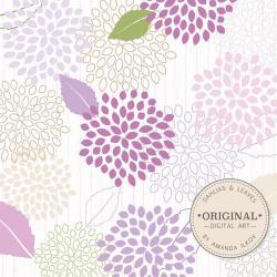Dahlia clipart lavender flower