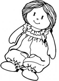 Ragdoll clipart black and white