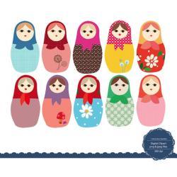 Doll clipart russia