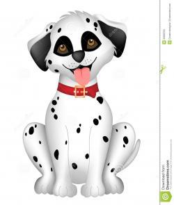 Dalmatian clipart cute