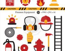 Emergency clipart firefighter gear