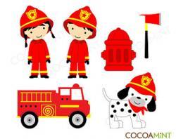 Dalmatian clipart firefighter equipment