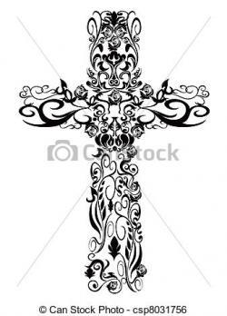Damask clipart cross