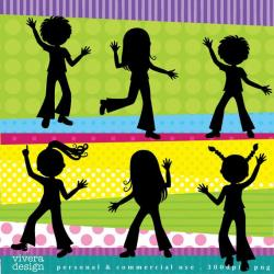 Party clipart kids disco
