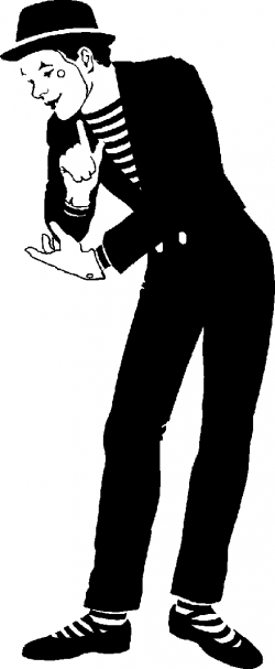 France clipart mime artist