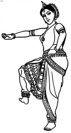 Drawn dancer classical dancer