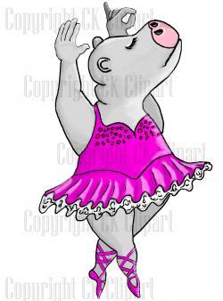 Hippo clipart ballerina