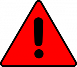 Triangle clipart warning sign