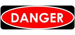 Danger clipart signage