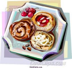 Denmark clipart breakfast pastry