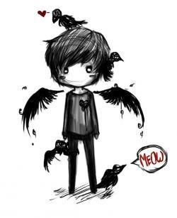 Fallen Angel clipart boy