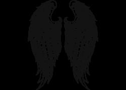 Fallen Angel clipart outline