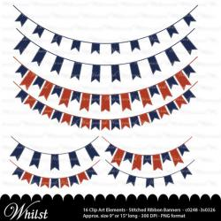 Long clipart bunting