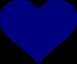 Hearts clipart navy