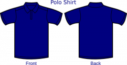 Dark Blue clipart polo shirt