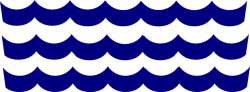 Dark Blue clipart wave