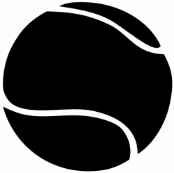 Tennis Ball clipart black and white