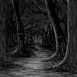Creepy clipart woods