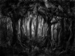 Dark Wood clipart creepy forest