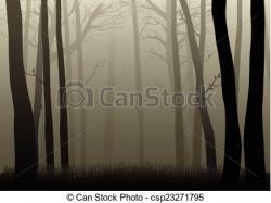 Dark clipart dark woods