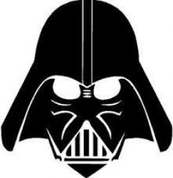 Drawn darth vader