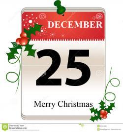 Christmas clipart calendar